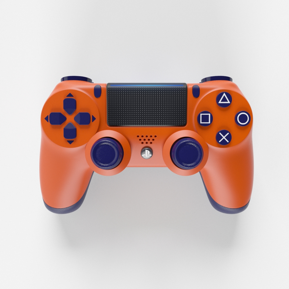 Sony Playstation 4 Dualshock Controller Sunset Orange Edition By Gonmad