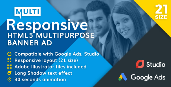Responsive - Multipurpose Animated HTML5 Banner Ad (GWD) - CodeCanyon Item for Sale