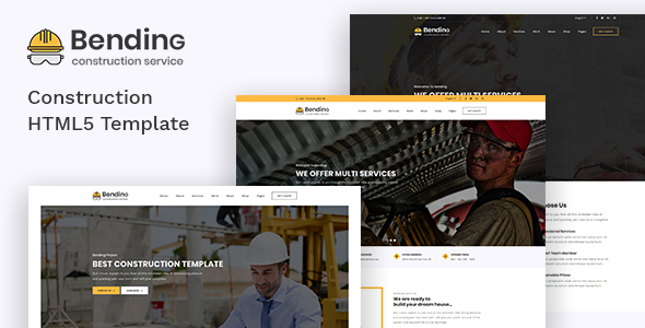 Bending - Clean Construction HTML5 Template