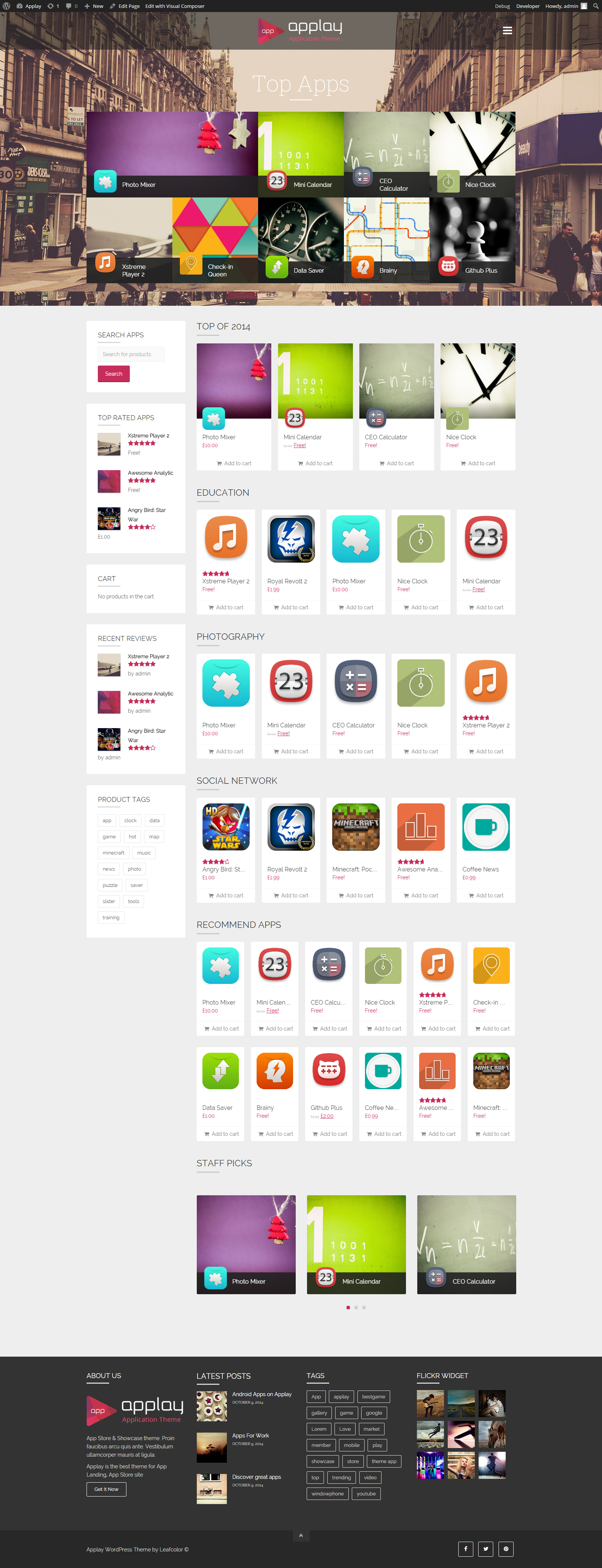 Applay WordPress App Showcase & App Store Theme by leafcolor