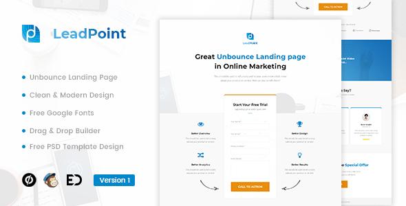 leadpoint lead generation unbounce landing page template. Black Bedroom Furniture Sets. Home Design Ideas