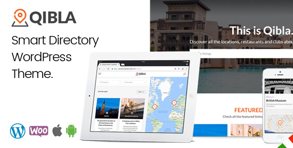 Qibla - WordPress Listing Directory Theme - Directory & Listings Corporate