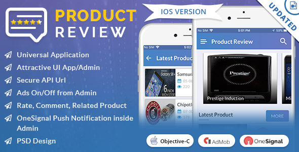 iOS Product Review App Source code