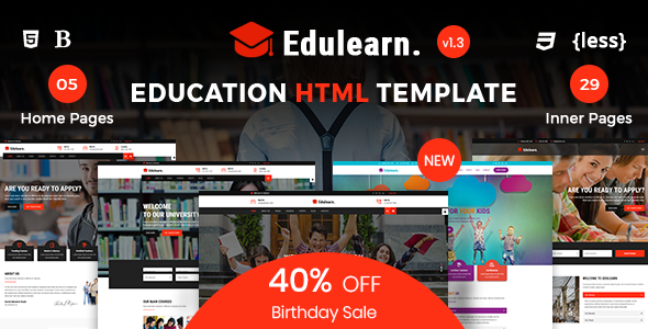 Edulearn Education - Education HTML Template - Business Corporate