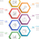Infographic Template with 7 Hexagons - GraphicRiver Item for Sale