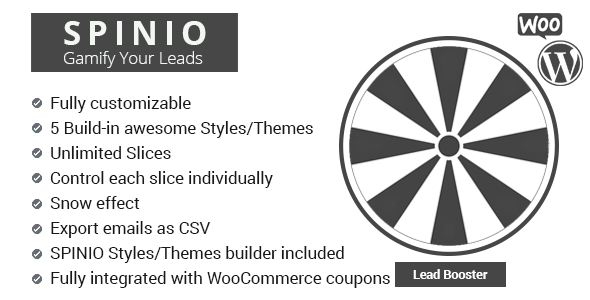 Spinio - Fortune wheel for Woocommcer (lead booster)            Nulled