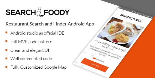 Search Foody - Restaurant Search And Finder Android App            Nulled