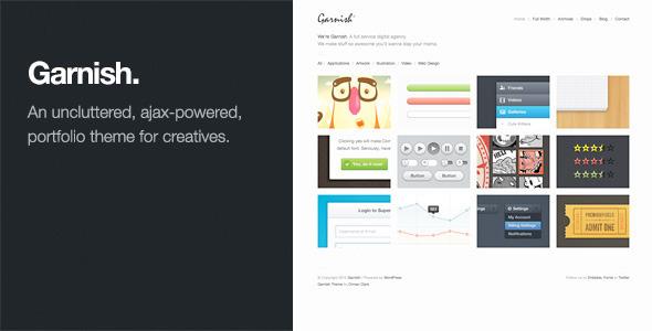 Garnish: Clean-Cut WordPress Portfolio Theme