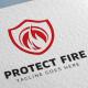 Shield Protect Fire Logo