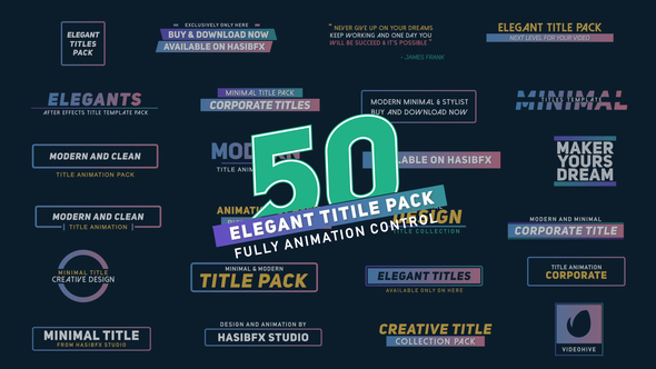 After Effects Title Templates From VideoHive - After effects list template