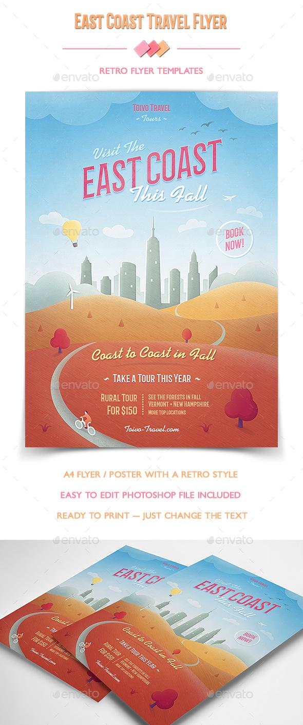 East Coast Travel Flyer - Flyers Print Templates