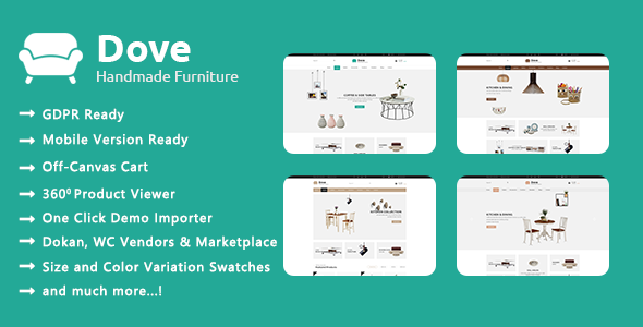 Dove - Handmade Crafts WooCommerce WordPress Theme