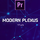 Modern Plexus Titles Mogrt - VideoHive Item for Sale