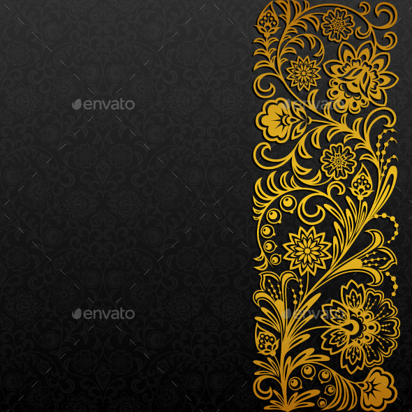 Background with Traditional Floral Ornament - Backgrounds Decorative