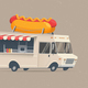 Food Truck with Hot Dog - GraphicRiver Item for Sale
