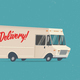 Cartoon Styled Vintage Delivery Truck - GraphicRiver Item for Sale