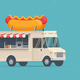 Hot Dog Street Food Truck - GraphicRiver Item for Sale