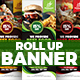 Restaurant Roll Up Banner - GraphicRiver Item for Sale
