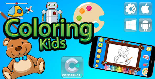 Coloring Kids - Html5 Game (Capx)            Nulled