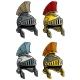 Cartoon Ancient Roman Soldier Helmet Icon Set