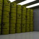 Barrels with dangerous Goods on White