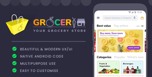 Grocery Store Template            Nulled