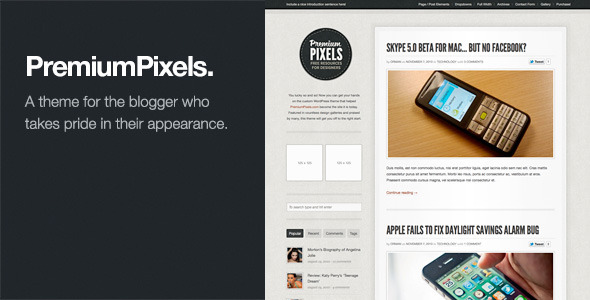 Premium Pixels: Fancy Pants Blog / Magazine Theme - Personal Blog / Magazine