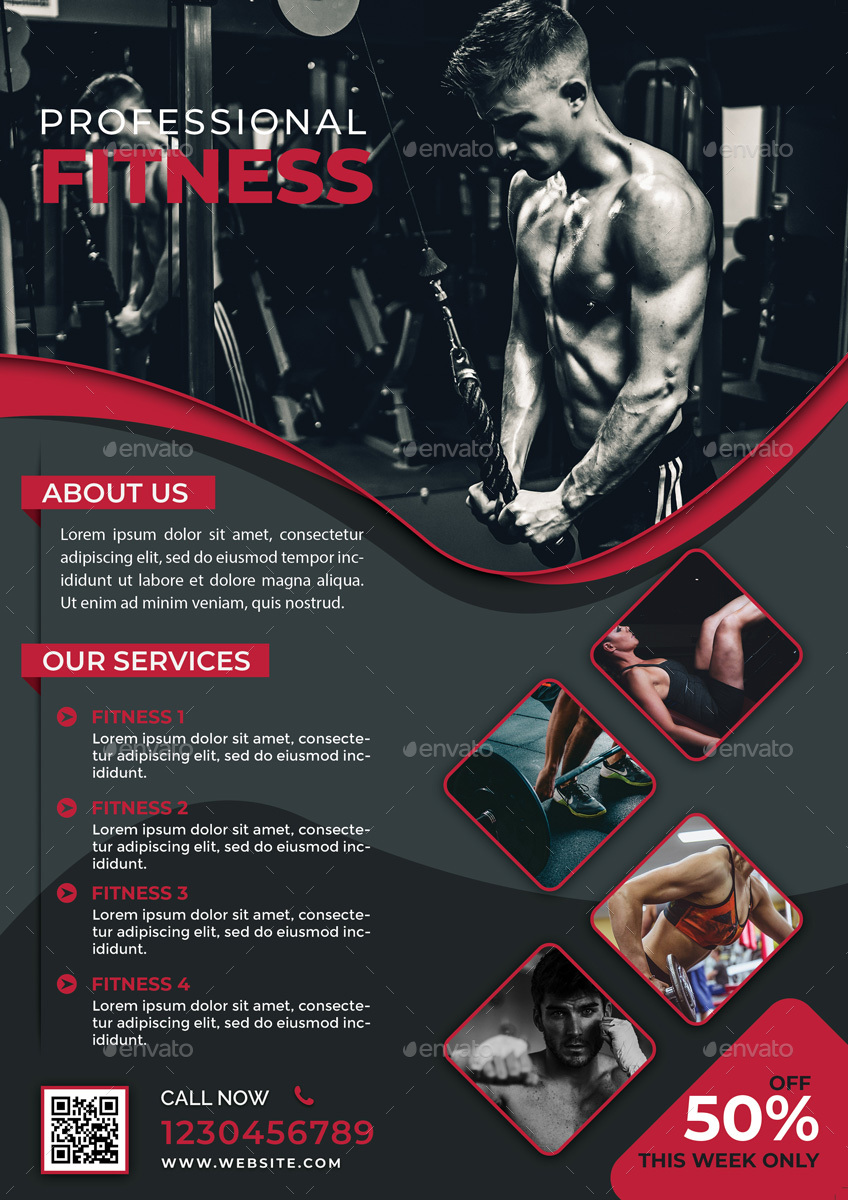 Fitness Flyer Templates By Goku4501 Graphicriver