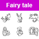 Fairy Tale Outlines Vector Icons - GraphicRiver Item for Sale