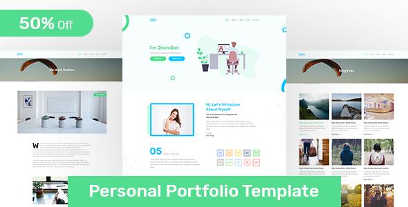 DIVI - Personal Portfolio PSD Template - Portfolio Creative