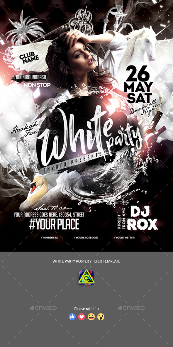 white party poster flyer by creatwitter graphicriver
