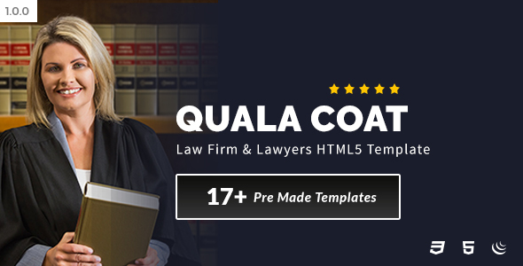 Quala Coat - Law Firm & Lawyers HTML5 Template - Business Corporate
