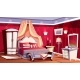 Vector Interior of Rich Bedroom, Luxurious Room