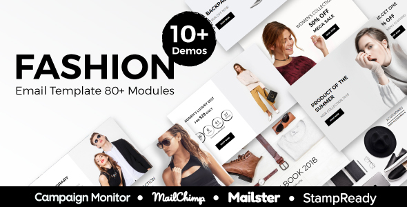 Fashion - Ecommerce Responsive Email Template With StampReady, Mailster, Mailchimp, Campaign Monitor - Newsletters Email Templates