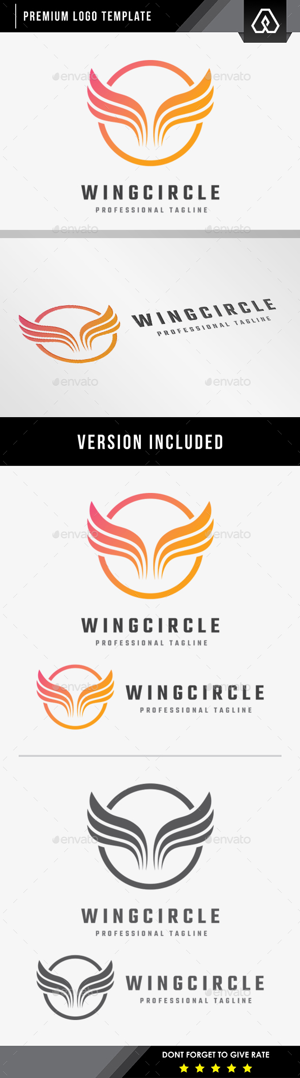 Wings Circle Logo - Symbols Logo Templates