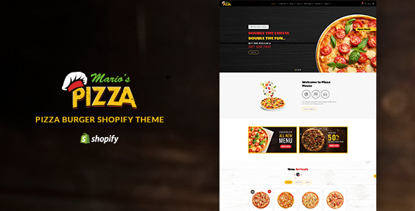 Marios Pizza | Pizza, Burger Restaurant Shopify