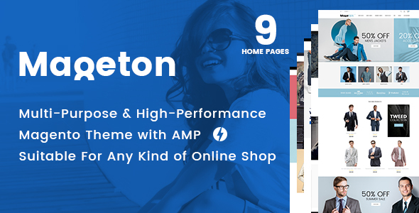 MAGETON - AMP Magento 2 Theme Free Download | Nulled