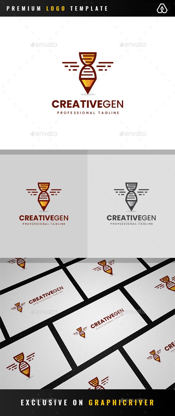 Creative Genetic Logo - Objects Logo Templates