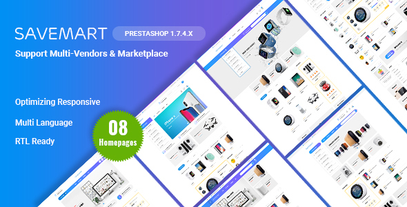 Savemart - Multi-Vendor & Marketplace eCommerce Prestashop 1.7 Theme