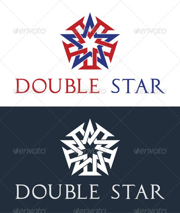 Double Star Logo Template - Symbols Logo Templates
