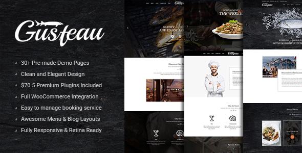 Gusteau – Elegant Food - Coffee and Restaurant WordPress Theme - Restaurants & Cafes Entertainment