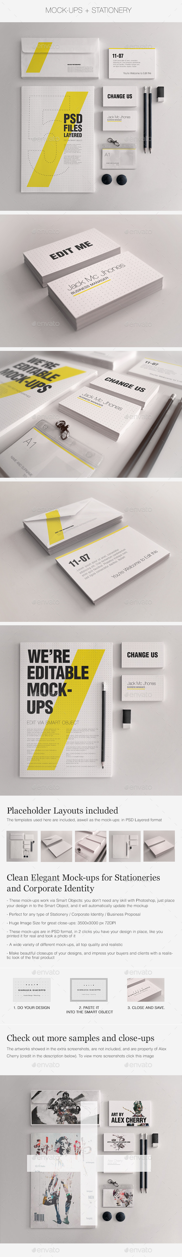 Realistic Stationery Mock-Up Set 1 - Corporate ID - Stationery Print
