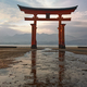 famous floating torii at low tide - PhotoDune Item for Sale