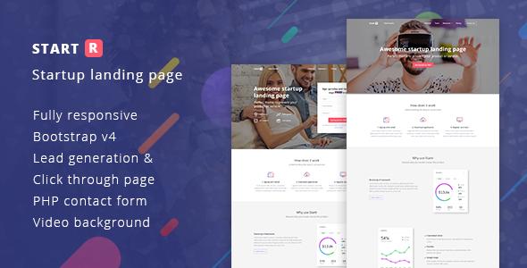 Startr - Multipurpose Startup Landing Page