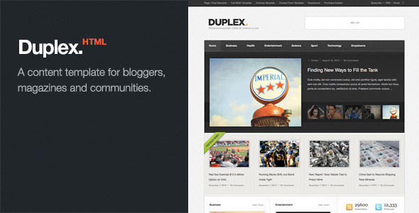 Duplex – Magazine / Community / Blog Template