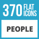 370 People Flat Long Shadow Icons