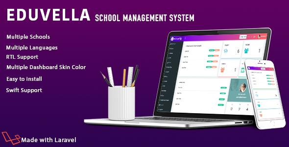 Eduvella Multi-School School Management System - CodeCanyon Item for Sale
