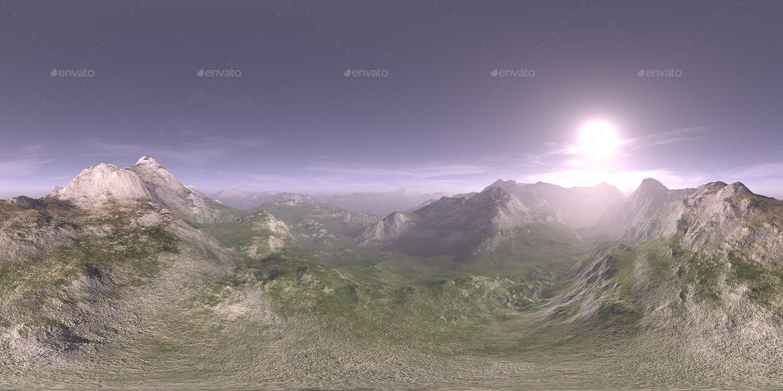 Late Morning Desert Mountains HDRI Sky