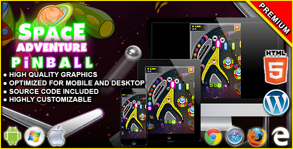 Pinball Space Adventure - HTML5 Arcade Game            Nulled