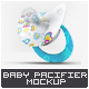Baby Pacifier Mock-Up - GraphicRiver Item for Sale